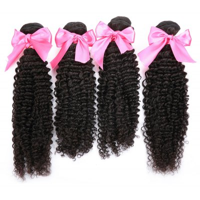4pcs Indian Remy Kinky Curly Human Hair Weave Extension