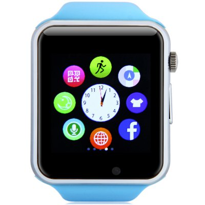A1 Smartwatch PhoneSmart Watch Phone<br>A1 Smartwatch Phone<br><br>Type: Watch Phone<br>CPU: MTK6261<br>External Memory: TF card up to 32GB (not included)<br>Wireless Connectivity: Bluetooth,GSM<br>Network type: GSM<br>Frequency: GSM850/900/1800/1900MHz<br>Bluetooth: Yes<br>Screen type: Capacitive<br>Screen size: 1.54 inch<br>Screen resolution: 240 x 240<br>Camera type: Single camera<br>Front camera: 0.3MP<br>Video recording: Yes<br>SIM Card Slot: Single SIM(Micro SIM slot)<br>TF card slot: Yes<br>Picture format: BMP,GIF,JPEG<br>Music format: MP3,WAV<br>Video format: MP4<br>Languages: English, Spanish, Portuguese, Italian, Dutch, Turkish, Polish<br>Additional Features: Bluetooth,Calculator...,Calendar,MP3,MP4,People,Sound Recorder<br>Cell Phone: 1<br>Battery: 1 x 380mAh<br>USB Cable: 1<br>English Manual : 1<br>Product size: 4.79 x 4.00 x 1.18 cm / 1.89 x 1.57 x 0.46 inches<br>Package size: 9.90 x 9.90 x 7.40 cm / 3.9 x 3.9 x 2.91 inches<br>Product weight: 0.053 kg<br>Package weight: 0.260 kg