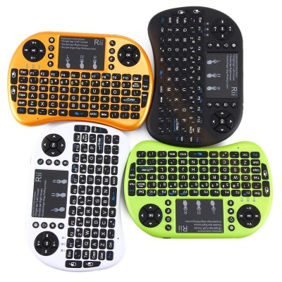 Rii i8+ Multi - function 2.4GHz Wireless Touchpad QWERTY Keyboard for Android Box