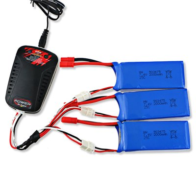 3 x 7.4V 2000mAh Battery + Charger + Cable / Power Adapter Set for Syma X8C X8W X8G X8HC X8HW QuadcopterRC Quadcopter Parts<br>3 x 7.4V 2000mAh Battery + Charger + Cable / Power Adapter Set for Syma X8C X8W X8G X8HC X8HW Quadcopter<br><br>Brand: Syma<br>Compatible with: Syma X8C X8W X8G X8HC X8HW Quadcopter<br>Package Contents: 3 x 7.4V 2000mAh Battery, 1 x Balance Charger, 1 x Multi-head Cable, 1 x Power Adapter<br>Package size (L x W x H): 16.00 x 8.00 x 5.00 cm / 6.3 x 3.15 x 1.97 inches<br>Package weight: 0.478 kg<br>Type: Adapter, Batteries