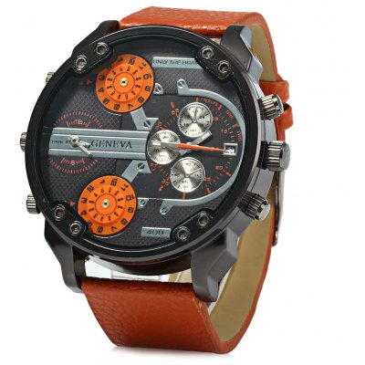 Geneva 409 Date Function Male Four Movt Quartz Watch