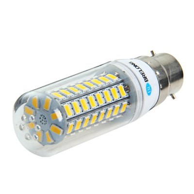 5 x BRELONG B22 12W 1200Lm SMD 5730 LED Corn Light LampCorn Bulbs<br>5 x BRELONG B22 12W 1200Lm SMD 5730 LED Corn Light Lamp<br><br>Available Light Color: White,Warm White<br>Brand: BRELONG<br>CCT/Wavelength: 3000-3500K,6000-6500K<br>Emitter Types: SMD 5730<br>Features: Long Life Expectancy, Energy Saving<br>Function: Studio and Exhibition Lighting, Commercial Lighting, Home Lighting<br>Holder: E27,E14,GU10,G9,B22<br>Luminous Flux: 1200Lm<br>Output Power: 12W<br>Package Contents: 5 x BRELONG LED Corn Bulb<br>Package size (L x W x H): 11.5 x 13.5 x 9 cm / 4.52 x 5.31 x 3.54 inches<br>Package weight: 0.240 kg<br>Product size (L x W x H): 10 x 3 x 3 cm / 3.93 x 1.18 x 1.18 inches<br>Product weight: 0.032 kg<br>Sheathing Material: Plastic<br>Total Emitters: 72<br>Type: Corn Bulbs<br>Voltage (V): AC 220-240