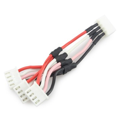 3 in 1 11.1V 3S Battery Connector Adapter Cable for Nighthawk Pro 280 QAV250 290 300 Multicopter