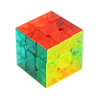 5.7cm 3 x 3 x 3 Colorful Magic Cube Crystal Style Brain Teaser Educational Toy for Gift