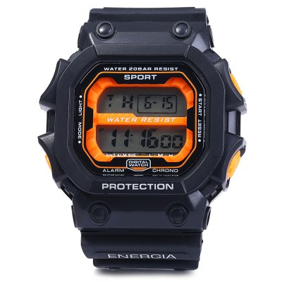 8332G Day Date Alarm Stopwatch Men LED Sports WatchSports Watches<br>8332G Day Date Alarm Stopwatch Men LED Sports Watch<br><br>Available Color: Black,Red,Blue,Orange,Yellow<br>Band material: Rubber<br>Case material: PC<br>Clasp type: Pin buckle<br>Display type: Digital<br>Movement type: Digital watch<br>Package Contents: 1 x 8332G Watch<br>Package size (L x W x H): 28 x 6 x 2.5 cm / 11.00 x 2.36 x 0.98 inches<br>Package weight: 0.116 kg<br>People: Male table<br>Product size (L x W x H): 27 x 5 x 1.5 cm / 10.61 x 1.97 x 0.59 inches<br>Product weight: 0.066 kg<br>Shape of the dial: Round<br>Special features: EL Back-light, Day, Date, Alarm Clock, Stopwatch<br>The band width: 2.2 cm / 0.86 inches<br>The dial diameter: 5.0 cm / 1.97 inches<br>The dial thickness: 1.5 cm / 0.59 inches<br>Watch style: LED, Outdoor Sports<br>Water resistance : 50 meters<br>Wearable length: 16 - 23 cm / 6.3 - 9.06 inches