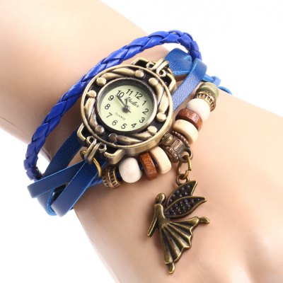 Yulan Angel Pendant Bracelet Women Quartz WatchWomens Watches<br>Yulan Angel Pendant Bracelet Women Quartz Watch<br><br>Available Color: Black,White,Red,Blue,Green,Brown,Orange<br>Band material: Leather<br>Brand: Yulan<br>Case material: Stainless Steel<br>Clasp type: Buckle<br>Display type: Analog<br>Movement type: Quartz watch<br>Package Contents: 1 x Yulan Watch<br>Package size (L x W x H): 21 x 3.5 x 2 cm / 8.25 x 1.38 x 0.79 inches<br>Package weight: 0.072 kg<br>Product size (L x W x H): 20 x 2.5 x 1 cm / 7.86 x 0.98 x 0.39 inches<br>Product weight: 0.022 kg<br>Shape of the dial: Round<br>Style: Retro, Bracelet<br>The dial diameter: 2.5 cm / 0.98 inches<br>The dial thickness: 0.5 cm / 0.2 inches<br>Watches categories: Female table