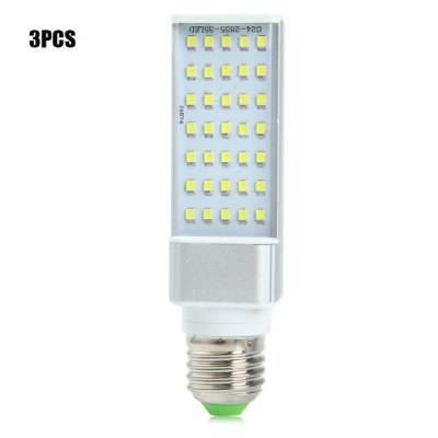 3PCS SZFC E27 SMD 2835 680Lm 7W LED Horizontal Plug Lamp