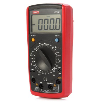 UNI-T UT39E LCD Digital MultimeterMultimeters &amp; Fitting<br>UNI-T UT39E LCD Digital Multimeter<br><br>Brand: UNI-T<br>Model: UT39E<br>Package Contents: 1 x UNI-T UT39E LCD Digital Multimeter, 2 x Test Lead, 1 x Chinese Manual<br>Package size (L x W x H): 26.00 x 15.80 x 5.60 cm / 10.24 x 6.22 x 2.2 inches<br>Package weight: 0.5920 kg<br>Product size (L x W x H): 16.80 x 8.30 x 3.70 cm / 6.61 x 3.27 x 1.46 inches<br>Product weight: 0.3170 kg<br>Type: Multimeter