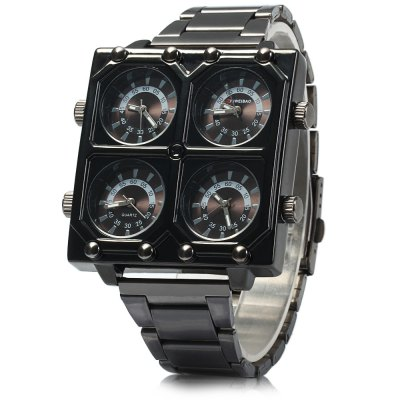 Shiweibao K2601 Four Movt Men Quartz WatchMens Watches<br>Shiweibao K2601 Four Movt Men Quartz Watch<br><br>Band material: Stainless Steel<br>Brand: Shiweibao<br>Case material: Stainless Steel<br>Clasp type: Folding clasp with safety<br>Display type: Analog<br>Movement type: Multiple Movements<br>Package Contents: 1 x Shiweibao K2601 Watch<br>Package size (L x W x H): 23 x 5.5 x 2 cm / 9.04 x 2.16 x 0.79 inches<br>Package weight: 0.193 kg<br>Product size (L x W x H): 22 x 4.5 x 1 cm / 8.65 x 1.77 x 0.39 inches<br>Product weight: 0.143 kg<br>Shape of the dial: Square<br>Style elements: Big dial<br>The band width: 2.0 cm / 0.79 inches<br>The dial diameter: 4.5 cm / 1.77 inches<br>The dial thickness: 1.0 cm / 0.39 inches<br>Watch style: Cool<br>Watches categories: Male table