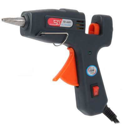 SD-A601 Electric Heating Glue GunGlue Gun<br>SD-A601 Electric Heating Glue Gun<br><br>Certificate: CE<br>Color: Green<br>Function: Repair Heat Tool<br>Material: Plastic<br>Model: SD-A601<br>Package Contents: 1 x SD-A601 Electric Heating Glue Gun<br>Package size (L x W x H): 20.8 x 14.1 x 3.7 cm / 8.17 x 5.54 x 1.45 inches<br>Package weight: 0.209 kg<br>Product size (L x W x H): 14.3 x 12.2 x 2.7 cm / 5.62 x 4.79 x 1.06 inches<br>Product weight: 0.126 kg<br>Special features: Electric Heating Glue Gun<br>Type: Electric Tools
