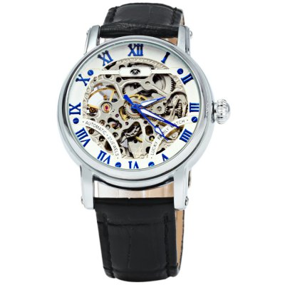 Lucky Family G8126 Male Automatic Mechanical WatchMens Watches<br>Lucky Family G8126 Male Automatic Mechanical Watch<br><br>Available Color: Black,Blue,Brown,Gold<br>Band material: Genuine Leather<br>Brand: Lucky Family<br>Case material: Stainless Steel<br>Clasp type: Pin buckle<br>Display type: Analog<br>Movement type: Automatic mechanical watch<br>Package Contents: 1 x Lucky Family G8126 Automatic Mechanical Watch<br>Package size (L x W x H): 25 x 4.7 x 2 cm / 9.83 x 1.85 x 0.79 inches<br>Package weight: 0.114 kg<br>Product size (L x W x H): 24 x 3.7 x 1 cm / 9.43 x 1.45 x 0.39 inches<br>Product weight: 0.064 kg<br>Shape of the dial: Round<br>The band width: 2.0 cm / 0.79 inches<br>The dial diameter: 3.7 cm / 1.45 inches<br>The dial thickness: 1.0 cm / 0.39 inches<br>Watch style: Hollow-out<br>Watches categories: Male table<br>Wearable length: 16 - 21 cm / 6.3 - 8.27 inches