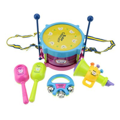 Mini Colorful Toy Musical Instrument Fun and Safe Game ( Sand Hammer / Bell / Drum / Hammer / Horn )Kids Musical Instrument<br>Mini Colorful Toy Musical Instrument Fun and Safe Game ( Sand Hammer / Bell / Drum / Hammer / Horn )<br><br>Age: 1 Years+<br>Applicable gender: Unisex<br>Design Style: Instrument<br>Features: Music<br>Material: Plastic<br>Package Contents: 2 x Sand Hammer, 1 x Bell, 1 x Drum, 2 x Hammer, 1 x Horn<br>Package size (L x W x H): 16.00 x 16.00 x 10.00 cm / 6.3 x 6.3 x 3.94 inches<br>Package weight: 0.2200 kg<br>Puzzle Style: Sing/Dance<br>Small Parts : No<br>Type: Intelligence toys<br>Washing: No