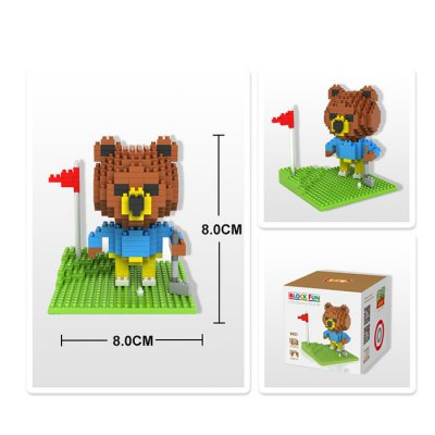 LOZ 310Pcs 9427 Brown Bear Golf Building Block Toy for Enhancing Social Cooperation AbilityBlock Toys<br>LOZ 310Pcs 9427 Brown Bear Golf Building Block Toy for Enhancing Social Cooperation Ability<br><br>Age: 14 Years+<br>Applicable gender: Unisex<br>Brand: LOZ<br>Character Name: Brown Bear<br>Design Style: Cartoon<br>Features: DIY<br>Material: ABS<br>Package Contents: 310 x Module, 1 x User Manual<br>Package size (L x W x H): 8.50 x 8.50 x 8.50 cm / 3.35 x 3.35 x 3.35 inches<br>Package weight: 0.095 kg<br>Product Model: 9427<br>Puzzle Style: 3D Puzzle<br>Small Parts : Yes<br>Type: Building Blocks<br>Washing: Yes