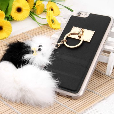 TPU Protective Case for iPhone 6 Plus / 6S Plus with Fox Pendent