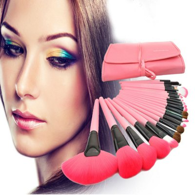 24PCS Goat Hair Makeup BrushMakeup Brushes &amp; Tools<br>24PCS Goat Hair Makeup Brush<br><br>Features: Lightweight, Easy to Carry, Environment Friendly, Soft<br>Functions: Comestic for Party<br>Package Contents: 24 x Makeup Brush, 1 x Foldable Leather Bag<br>Package size (L x W x H): 35.00 x 28.00 x 8.00 cm / 13.78 x 11.02 x 3.15 inches<br>Package weight: 0.5400 kg<br>Product size (L x W x H): 24.00 x 15.50 x 5.00 cm / 9.45 x 6.1 x 1.97 inches