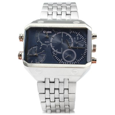 Oulm 3285 3-Movt Big Dial Male Quartz WatchMens Watches<br>Oulm 3285 3-Movt Big Dial Male Quartz Watch<br><br>Available Color: Black,Blue,Gold,Gold and Black,White<br>Band material: Stainless Steel<br>Brand: Oulm<br>Case material: Stainless Steel<br>Clasp type: Folding clasp with safety<br>Display type: Analog<br>Movement type: Multiple Movements<br>Package Contents: 1 x Oulm 3285 Watch<br>Package size (L x W x H): 26.00 x 6.70 x 2.30 cm / 10.24 x 2.64 x 0.91 inches<br>Package weight: 0.292 kg<br>Product size (L x W x H): 25.00 x 5.70 x 1.30 cm / 9.84 x 2.24 x 0.51 inches<br>Product weight: 0.242 kg<br>Shape of the dial: Rectangle<br>Special features: Decorating small sub-dials<br>Style elements: Big dial<br>The band width: 2.8 cm / 1.1 inches<br>The dial diameter: 5.7 cm/ 2.24 inches<br>The dial thickness: 1.3 cm / 0.51 inches<br>Watch style: Business<br>Watches categories: Male table