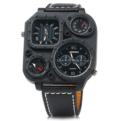 Shiweibao J1169 Compass Dual Movt Male Quartz WatchMens Watches<br>Shiweibao J1169 Compass Dual Movt Male Quartz Watch<br><br>Available Color: Black,White,Brown<br>Band material: Leather<br>Brand: Shiweibao<br>Case material: Stainless Steel<br>Clasp type: Pin buckle<br>Display type: Analog<br>Movement type: Double-movtz<br>Package Contents: 1 x Shiweibao J1169 Watch<br>Package size (L x W x H): 28 x 6 x 2 cm / 11.00 x 2.36 x 0.79 inches<br>Package weight: 0.135 kg<br>Product size (L x W x H): 27 x 5 x 1 cm / 10.61 x 1.97 x 0.39 inches<br>Product weight: 0.085 kg<br>Shape of the dial: Square<br>Special features: Compass, Decorating thermometer<br>The band width: 2.0 cm / 0.79 inches<br>The dial diameter: 5.0 cm / 1.97 inches<br>The dial thickness: 1.0 cm / 0.39 inches<br>Watch style: Casual<br>Watches categories: Male table<br>Wearable length: 17.5 - 22 cm / 6.89 - 8.66 inches