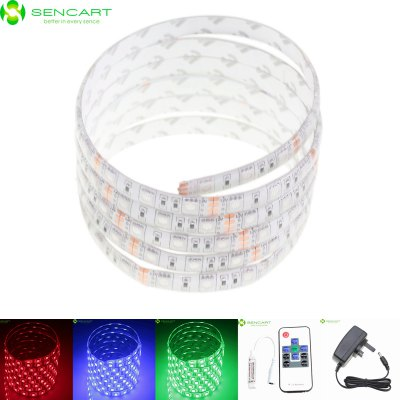 Sencart 5M 75W 300 SMD 5050 RGB LED Light Strip PackLED Strips<br>Sencart 5M 75W 300 SMD 5050 RGB LED Light Strip Pack<br><br>Actual Lumens: 3600LM<br>Brand: Sencart<br>Chip Brand: Epistar<br>Connector Type: UK plug<br>Features: IP-68, Waterproof, Remote Control, Cuttable<br>Input Voltage: AC100-240<br>LED Type: SMD-5050<br>Length: 5M<br>Material: FPC<br>Number of LEDs: 60 x SMD 5050 / M<br>Optional Light Color: RGB<br>Output Voltage: 12V<br>Package Contents: 1 x Sencart RGB LED Strip Light, 1 x Remote Controller (CR2025 Battery Included), 1 x Controller Box, 1 x UK Plug AC Adapter<br>Package size (L x W x H): 12.00 x 4.00 x 4.00 cm / 4.72 x 1.57 x 1.57 inches<br>Package weight: 0.3060 kg<br>Product size (L x W x H): 500.00 x 1.00 x 0.30 cm / 196.85 x 0.39 x 0.12 inches<br>Product weight: 0.1650 kg<br>Rated Current (A): 2A<br>Theoretical Lumens: 4800LM<br>Type: LED Strip