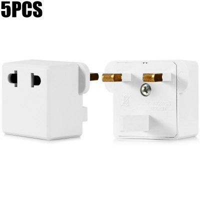 9624-KB UK Plug to US EU Socket Adapter - 5PCS