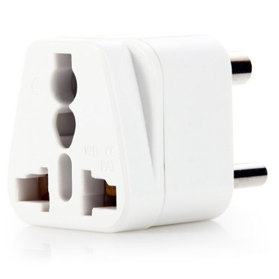 WD-010 5PCS South Africa Plug to Universal Socket AdapterPlugs &amp; Sockets<br>WD-010 5PCS South Africa Plug to Universal Socket Adapter<br><br>Color: Black,White<br>Identification: CE<br>Input Current: 10A<br>Model: WD-010<br>Package Contents: 5 x WD-010 South Africa Plug to Universal Socket Adapter<br>Package size (L x W x H): 17 x 14 x 5 cm / 6.68 x 5.50 x 1.97 inches<br>Package weight: 0.210 kg<br>Product size (L x W x H): 4.5 x 3.7 x 3.7 cm / 1.77 x 1.45 x 1.45 inches<br>Product weight: 0.155 kg<br>Standard: South Africa SABS Plug