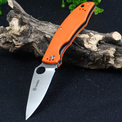 Ganzo G732-OR Liner Lock Pocket Knife with G10 Handle