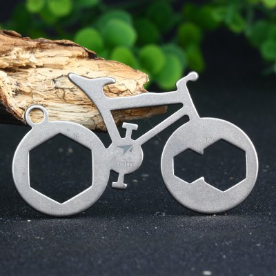Keith KR1303 Bike Shaped Multi-use Titanium PendantEDC Tools<br>Keith KR1303 Bike Shaped Multi-use Titanium Pendant<br><br>Color: Titanium Grey, Titanium Grey<br>For: Daily Use, Mountaineering, Travel, Daily Use, Home use, Other Outdoor Activities, Adventure, Hiking, Camping, Cycling, Travel, Climbing, Mountaineering<br>Material: Titanium, Titanium<br>Package Contents: 1 x Keith KR1303 Bike Shaped Multi-functional Pendant, 1 x Keith KR1303 Bike Shaped Multi-functional Pendant<br>Package size (L x W x H): 8.0 x 6.0 x 0.5 cm / 3.14 x 2.36 x 0.20 inches, 8.0 x 6.0 x 0.5 cm / 3.14 x 2.36 x 0.20 inches<br>Package weight: 0.032 kg, 0.032 kg<br>Product size (L x W x H): 6.5 x 4.0 x 0.2 cm / 2.55 x 1.57 x 0.08 inches, 6.5 x 4.0 x 0.2 cm / 2.55 x 1.57 x 0.08 inches<br>Product weight: 0.008 kg, 0.008 kg<br>Type: Multitools