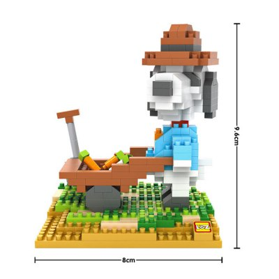 LOZ No. 9526 Snoopy Farm Working Diamond Block Toy Block Intelligent Toy Fun GameBlock Toys<br>LOZ No. 9526 Snoopy Farm Working Diamond Block Toy Block Intelligent Toy Fun Game<br><br>Age: 14 Years+<br>Applicable gender: Unisex<br>Brand: LOZ<br>Character Name: Snoopy<br>Design Style: Cartoon<br>Features: Movie and TV, DIY<br>Material: ABS<br>Package Contents: 370 x Block, 1 x Digital Graphic Installation Manual<br>Package size (L x W x H): 8.50 x 8.50 x 8.50 cm / 3.35 x 3.35 x 3.35 inches<br>Package weight: 0.1030 kg<br>Product Model: 9526<br>Product prototype: Snoopy<br>Puzzle Style: 3D Puzzle<br>Small Parts : Yes<br>Type: Building Blocks<br>Washing: Yes