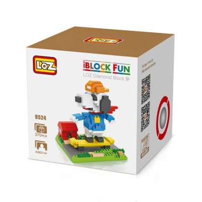 LOZ No. 9524 Skateboarder Snoopy Diamond Block Toy Block Intelligent Toy Fun GameBlock Toys<br>LOZ No. 9524 Skateboarder Snoopy Diamond Block Toy Block Intelligent Toy Fun Game<br><br>Age: 14 Years+<br>Applicable gender: Unisex<br>Brand: LOZ<br>Character Name: Snoopy<br>Design Style: Cartoon<br>Features: Movie and TV, DIY<br>Material: ABS<br>Package Contents: 370 x Block, 1 x English Manual<br>Package size (L x W x H): 8.50 x 8.50 x 8.50 cm / 3.35 x 3.35 x 3.35 inches<br>Package weight: 0.1030 kg<br>Product Model: 9524<br>Product prototype: Snoopy<br>Puzzle Style: 3D Puzzle<br>Small Parts : Yes<br>Type: Building Blocks<br>Washing: Yes
