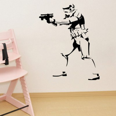w-27 Stormtrooper Style Wall StickerWall Stickers<br>w-27 Stormtrooper Style Wall Sticker<br><br>Art Style: Plane Wall Stickers<br>Effect Size (L x W): 46 x 58cm<br>Functions: Decorative Wall Stickers<br>Hang In/Stick On: Bathroom,Bedrooms,Cafes,Hotels,Kids Room,Living Rooms,Lobby,Nurseries,Offices,Stair,Toilet<br>Material: Vinyl(PVC)<br>Package Contents: 1 x Wall Sticker<br>Package size (L x W x H): 47.00 x 6.00 x 6.00 cm / 18.5 x 2.36 x 2.36 inches<br>Package weight: 0.255 kg<br>Product size (L x W x H): 46.00 x 58.00 x 0.10 cm / 18.11 x 22.83 x 0.04 inches<br>Product Type: Art Print<br>Product weight: 0.080 kg<br>Subjects: People