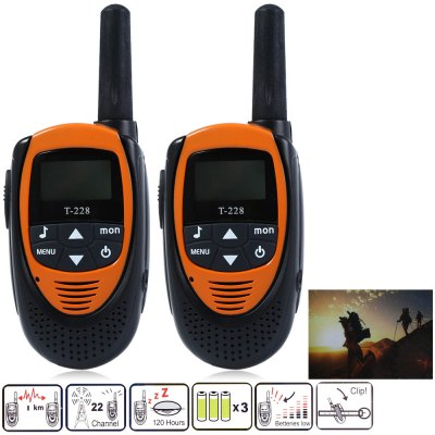 T-228 2pcs 22 Channel Wireless Walkie Talkie