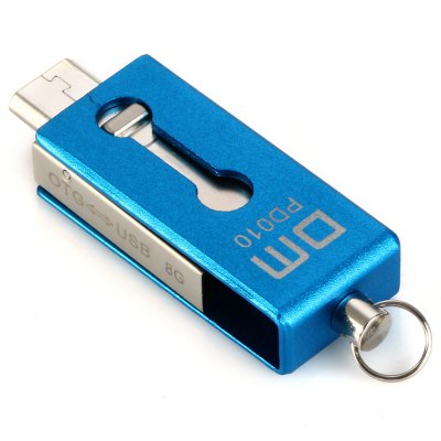 DM PD010 8G USB 2.0 to Micro USB Flash DriveUSB Flash Drives<br>DM PD010 8G USB 2.0 to Micro USB Flash Drive<br><br>Available Color: Blue<br>Brand: DM<br>Capacity: 8G<br>Certificate: CE<br>Interface: USB 2.0<br>Package Contents: 1 x USB Flash Memory, 1 x Chain<br>Package size (L x W x H): 12.00 x 10.00 x 1.70 cm / 4.72 x 3.94 x 0.67 inches<br>Package weight: 0.041 kg<br>Product size (L x W x H): 3.00 x 1.20 x 0.70 cm / 1.18 x 0.47 x 0.28 inches<br>Product weight: 0.005 kg<br>Style: Stylish<br>Type: USB Stick