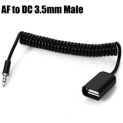 1M USB A Female to DC 3.5mm Male Spring Cable