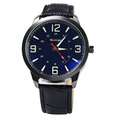 Rosivga Male Quartz Watch with Three Scales Leather StrapMens Watches<br>Rosivga Male Quartz Watch with Three Scales Leather Strap<br><br>Available Color: Black,White,Red,Blue,Green<br>Band material: Leather<br>Brand: Rosivga<br>Case material: Stainless Steel<br>Clasp type: Pin buckle<br>Display type: Analog<br>Movement type: Quartz watch<br>Package Contents: 1 x Rosivga Watch<br>Package size (L x W x H): 28 x 5.5 x 1.8 cm / 11.00 x 2.16 x 0.71 inches<br>Package weight: 0.096 kg<br>Product size (L x W x H): 27 x 4.5 x 0.8 cm / 10.61 x 1.77 x 0.31 inches<br>Product weight: 0.046 kg<br>Shape of the dial: Round<br>The band width: 2.2 cm / 0.87 inches<br>The dial diameter: 4.5 cm / 1.77 inches<br>The dial thickness: 0.8 cm / 0.31 inches<br>Watch style: Fashion<br>Watches categories: Male table<br>Wearable length: 17.5 - 22 cm / 6.89 - 8.66 inches