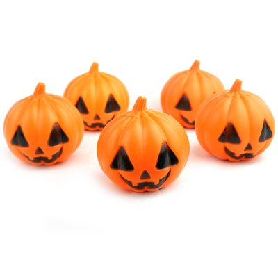 5PCS Creative Pumpkin Style LED LightHalloween Supplies<br>5PCS Creative Pumpkin Style LED Light<br><br>Battery Type: AG13 Button Battery<br>For: Lover, Kids, Sisters, Brothers, Parents, Teachers, Friends, Student, Olds, All<br>Material: Electronic Components, Plastic<br>Package Contents: 5 x Pumpkin Light, 15 x AG13 Battery<br>Package size (L x W x H): 23 x 23 x 17 cm / 9.04 x 9.04 x 6.68 inches<br>Package weight: 0.240 kg<br>Product size (L x W x H): 6.5 x 6.5 x 7 cm / 2.55 x 2.55 x 2.75 inches<br>Product weight: 0.088 kg<br>Usage: Christmas, Performance, Party, Halloween, Stage