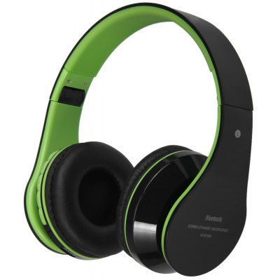 AT-BT809 Foldable Stereo Bluetooth Wireless Headphones Stretchable