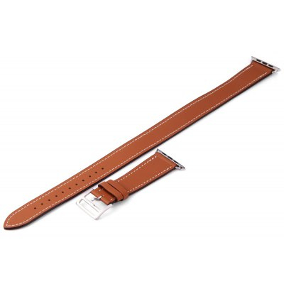 Genuine Leather Watchband Pin Buckle for Apple Watch 38mm