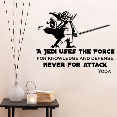 w-23 YODA Style Wall StencilsWall Stickers<br>w-23 YODA Style Wall Stencils<br><br>Art Style: Plane Wall Stickers<br>Color Scheme: Black<br>Effect Size (L x W): 57.5 x 45.2cm<br>Functions: Decorative Wall Stickers<br>Hang In/Stick On: Bathroom,Bedrooms,Cafes,Kids Room,Lobby,Nurseries,Offices,Stair,Toilet<br>Layout Size (L x W): 58 x 27cm<br>Material: Vinyl(PVC)<br>Package Contents: 1 x Wall Sticker<br>Package size (L x W x H): 28.00 x 4.50 x 4.50 cm / 11.02 x 1.77 x 1.77 inches<br>Package weight: 0.150 kg<br>Product size (L x W x H): 58.00 x 27.00 x 0.10 cm / 22.83 x 10.63 x 0.04 inches<br>Product Type: Art Print<br>Product weight: 0.080 kg<br>Subjects: Animal