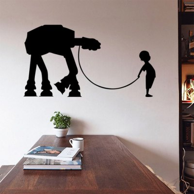 w-17 Boy AT-AT Walker WallpaperWall Stickers<br>w-17 Boy AT-AT Walker Wallpaper<br><br>Art Style: Plane Wall Stickers<br>Color Scheme: Black<br>Functions: Decorative Wall Stickers<br>Hang In/Stick On: Bathroom,Bedrooms,Cafes,Hotels,Kids Room,Living Rooms,Lobby,Nurseries,Offices,Stair,Toilet<br>Layout Size (L x W): 42 x 35.3cm<br>Material: Vinyl(PVC)<br>Package Contents: 1 x Wall Sticker<br>Package size (L x W x H): 36.00 x 4.00 x 4.00 cm / 14.17 x 1.57 x 1.57 inches<br>Package weight: 0.1810 kg<br>Product size (L x W x H): 42.00 x 35.30 x 0.10 cm / 16.54 x 13.9 x 0.04 inches<br>Product Type: Art Print<br>Product weight: 0.0600 kg