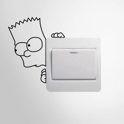 Naughty Child Style Removable Switch Wall Sticker
