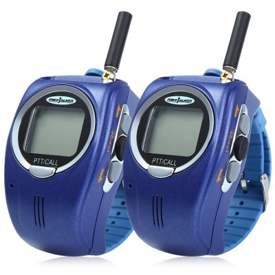 028 2pcs 22 Channel UHF Wrist Watch Style Walkie Talkie