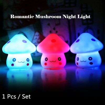 Energy Magic LED Cute Mushroom Night Light Novelty Lamp Changing Colors Colorful Nightlight Lamp Flashing Toy P4PM