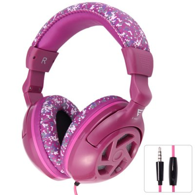 EINSKEY E-H012 Adjustable Stereo Pink Headphones with Mic