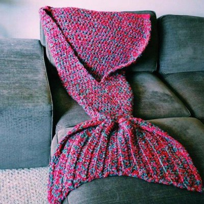 Artist Playfully Redesigns Cozy Mermaid Tails Knitted Blankets and Throws