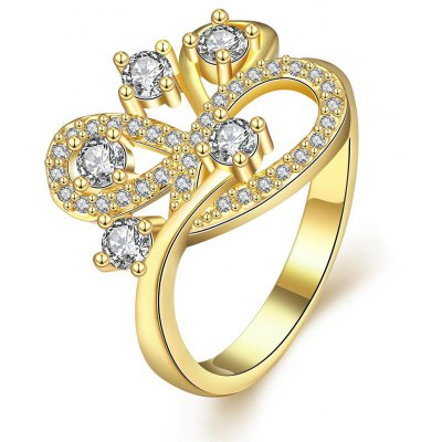 R403-A-8 Nickle Free Antiallergic New Fashion Jewelry Zircon Ring