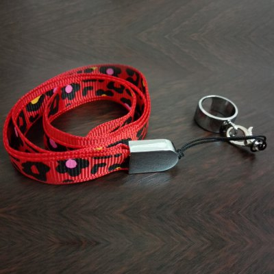 Leopard Pattern eGo Lanyard with Ring Clip for E Cigarette