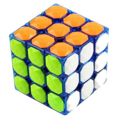 3 x 3 x 3 Colorful Magic Cube Diamond Style Brain Teaser Educational Toy for Gift - Skill Level 3