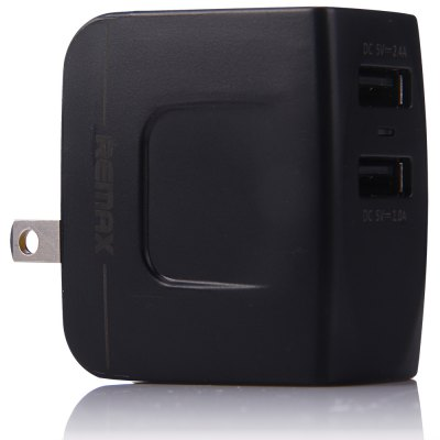 REMAX US Plug Fast Charge Power Adapter 2 USB Ports