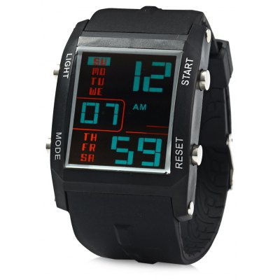 Gobu 1585 Men LED Sports Watch Blue Digital Wristwatch