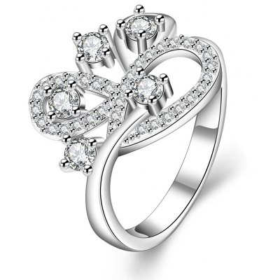 R403-C-8 Nickle Free Antiallergic New Fashion Jewelry Zircon Ring
