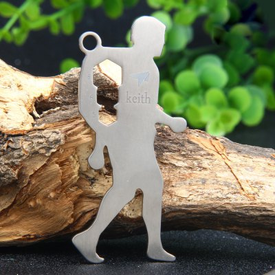 Keith KR1304 Human Body Shaped Titanium Pendant